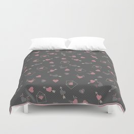 Letters for your sweetheart . Duvet Cover