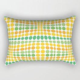 Dottywave - Green Yellow wave dots pattern Rectangular Pillow