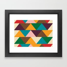 Kilim Chevron Framed Art Print