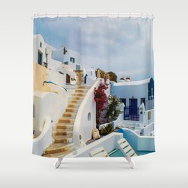 Imerovigli Santorini Shower Curtain