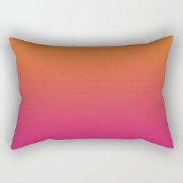 Pink Orange Red Gradient Pattern Rectangular Pillow