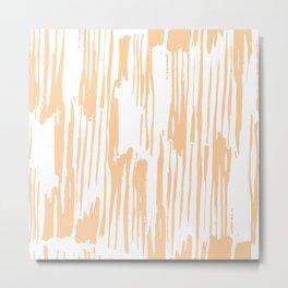 Modern Coral Stripes IV Metal Print