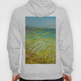 Seagrass By The Ocean Blue Waves Colorful Green To Blue Gradient Hoody