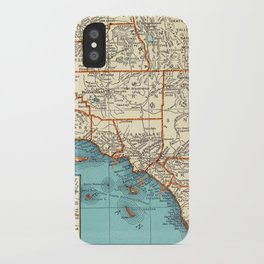 So Cal Surf Map iPhone Case