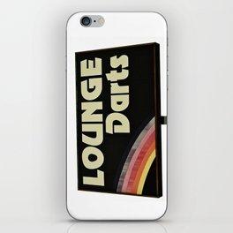 Lounge Darts sign iPhone Skin