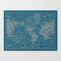 The World According to US Canvas Print