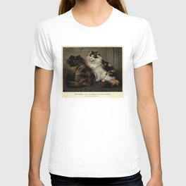 Vintage Painting of Fluffy Cats (1902) T-shirt