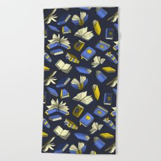 Spellbooks, blue Beach Towel