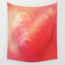 Heart pink smoothie Wall Tapestry