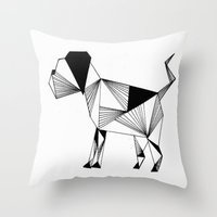 the hound Throw Pillows featuring Hound by Line H H