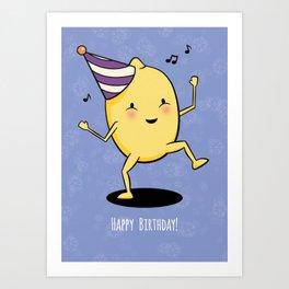 Lemon Party Art Print