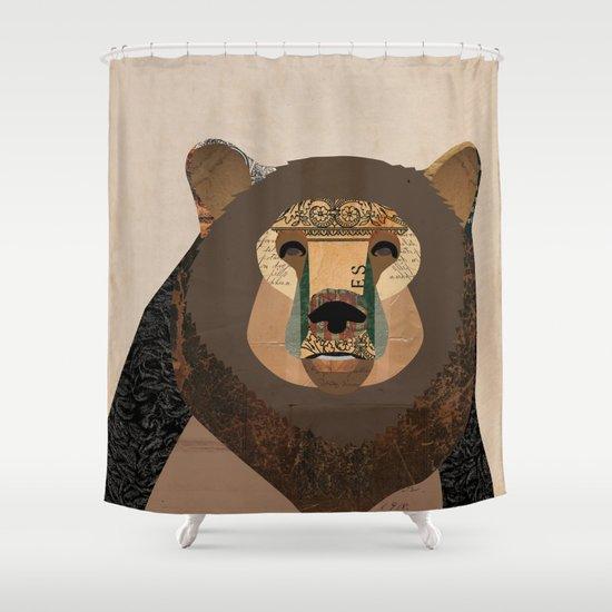 Bear Collage Shower Curtain