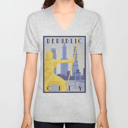 Republic City Travel Poster Unisex V-Neck
