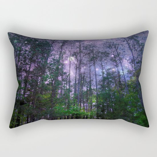 Mystic Forest : Purple Space Rectangular Pillow