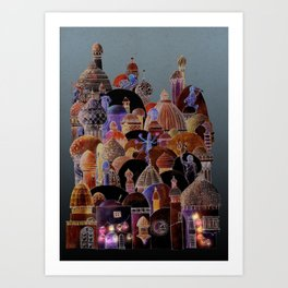 The city of Diomira Art Print