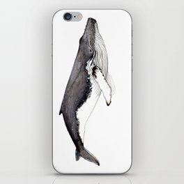 Humpback whale for whale lovers iPhone Skin