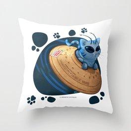 Alien Cat 02 Throw Pillow