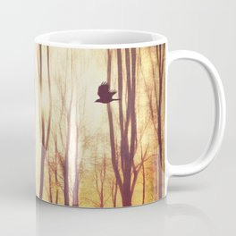 the art of falling apart - abstract trees in morning light Coffee Mug
