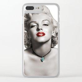 Marylin Monroe Clear iPhone Case