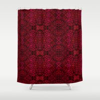persian Shower Curtains featuring Persian rugs by Vargamari
