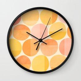 Mid Century Dots Wall Clock