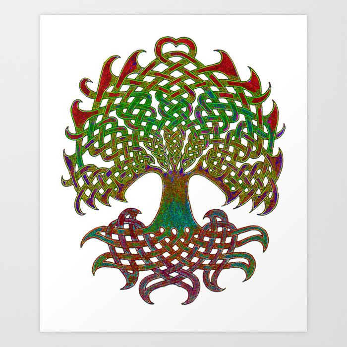 Celtic Knot Tree Of Life Art Print By Pressfordesign