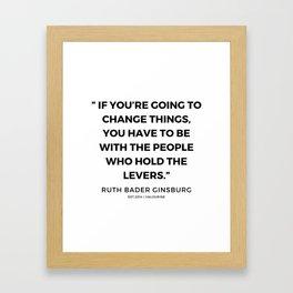 44     191115   Ruth Bader Ginsburg Quotes Framed Art Print