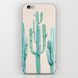 Three Amigos Turquoise + Coral iPhone Skin