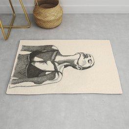 Girl In the Sun Pen Drawing by Monika Rug