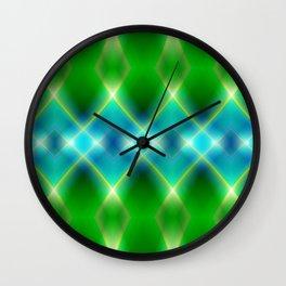 pattern green blue no. 1 Wall Clock