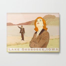 Lake Okobogee Fox Mulder and Dana Scully Metal Print