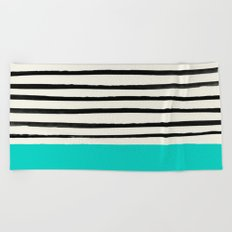 Aqua & Stripes Beach Towel