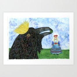 Crow King's Bride Art Print