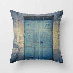 Blue Door II Throw Pillow