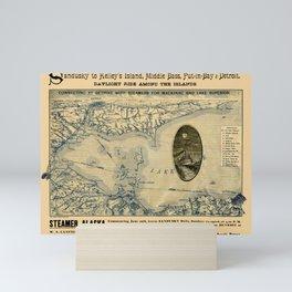 Map Of Lake Erie 1876 Mini Art Print