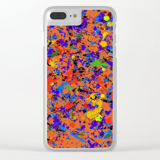 Abstract #912 Clear iPhone Case