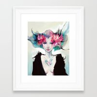 moth Framed Art Prints featuring Moth by Yoalys