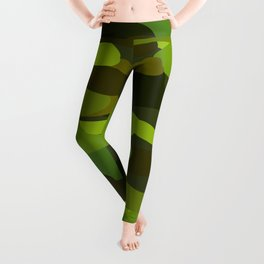 Camo-licious Collection: Wild Jungle Green Camouflage Pattern Leggings