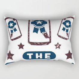 AMERICA THE BREWTIFUL T-SHIRT Rectangular Pillow