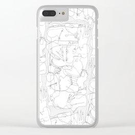 The Fallen - b&w Clear iPhone Case