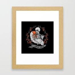 I Larva You Framed Art Print