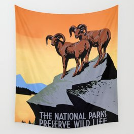 The National parks preserve wild life Wall Tapestry