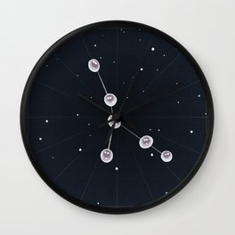 Cancer + June Pearls Wall Clock