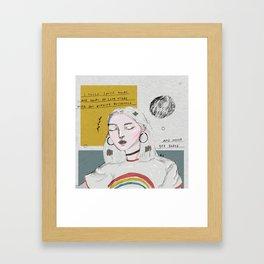 Twin Flames Framed Art Print