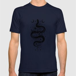 Serpent Spell -Black and White T-shirt