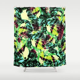 Tossed Toucan  Shower Curtain