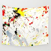 splatter Wall Tapestries featuring Paint Splatter  by Gravityx9