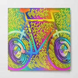 My Bike Metal Print