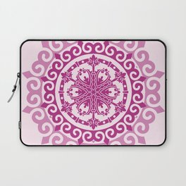 Pink Mandala on Baby Pink Background Laptop Sleeve