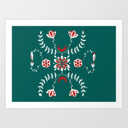 Botanic Esmerald Art Print